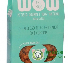 PETISCO WOW PET FOOD PEITO DE FRANGO COM CÚRCUMA GATOS
