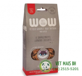 PETISCO WOW PET FOOD LOMBINHO CROCANTE GATOS