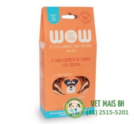 PETISCO WOW PET FOOD PEITO DE FRANGO COM CÚRCUMA CÃES