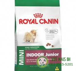 RAÇÃO ROYAL CANIN MINI INDOOR JUNIOR 1 Kg