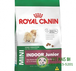 RAÇÃO ROYAL CANIN MINI INDOOR JUNIOR 7,5 Kg