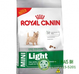 RAÇÃO ROYAL CANIN MINI LIGHT 1 Kg
