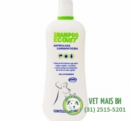 SHAMPOO ECOVET  ANTIPULGAS E CARRAPATICIDA 500ml